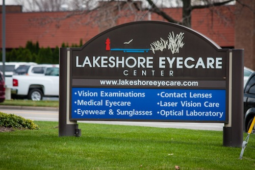 Lakeshore Eyecare Center Holland Office Sign