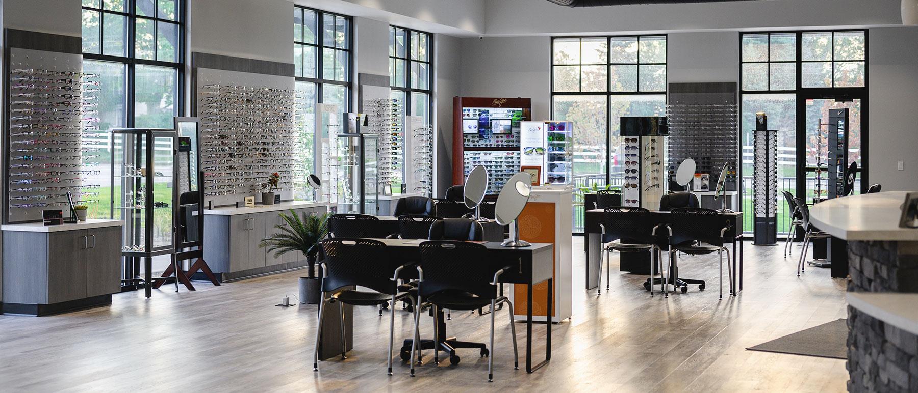 optical galleries at Lakeshore Eyecare Center